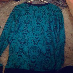 Teal nightmare before Christmas sweater
